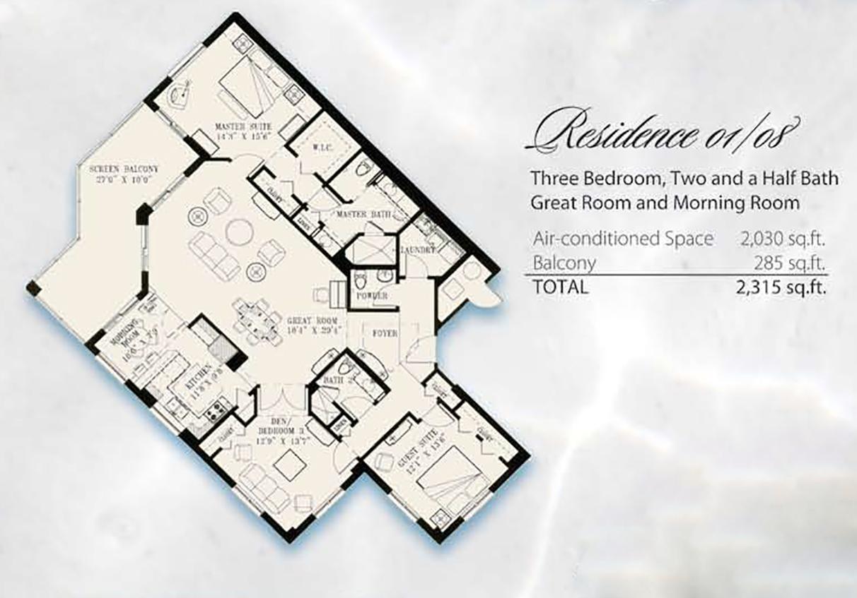 Condominium Floor Plans 01& 08