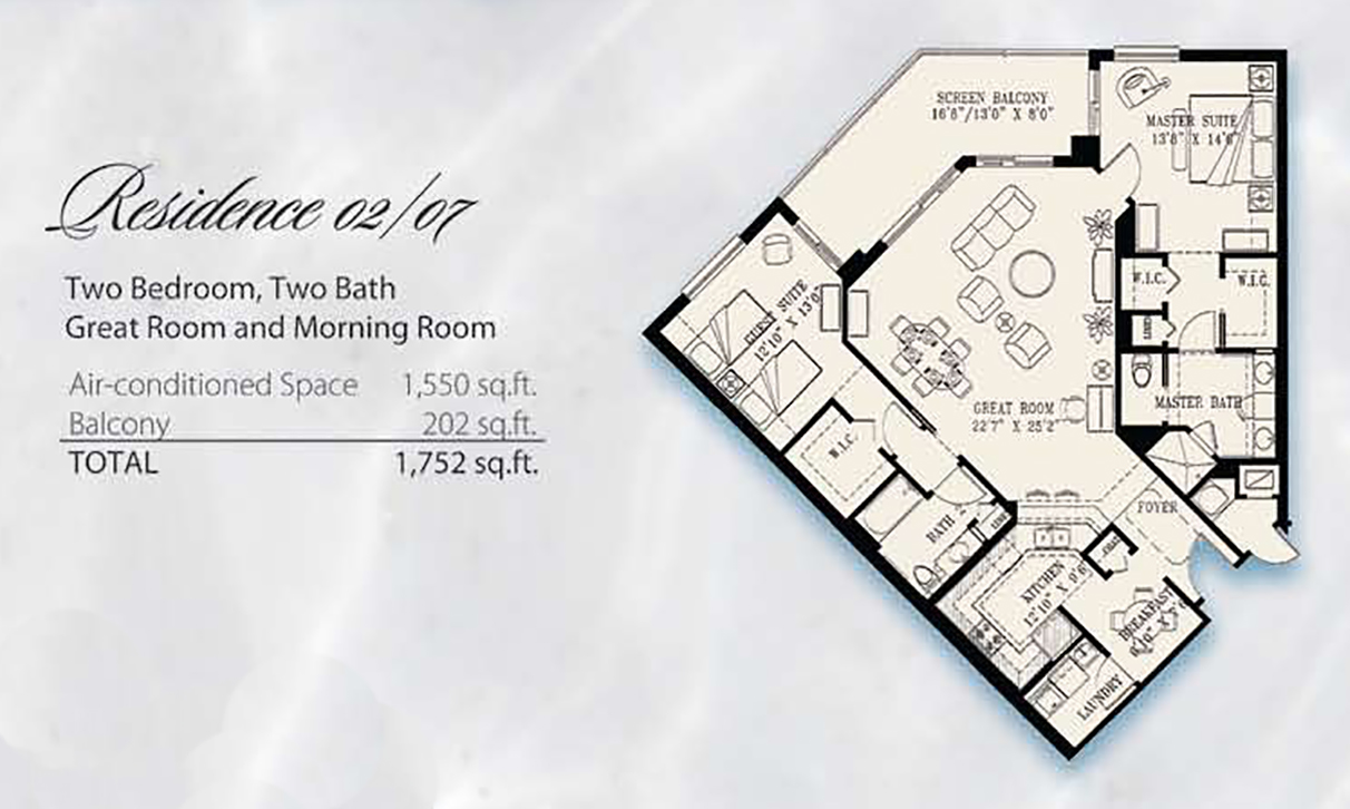 Condominium Floor Plans 02 & 07