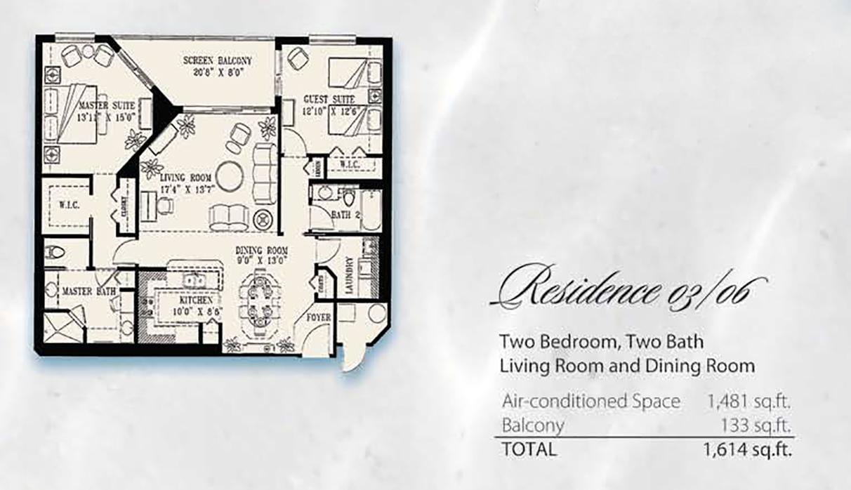 Condominium Floor Plans 03& 06