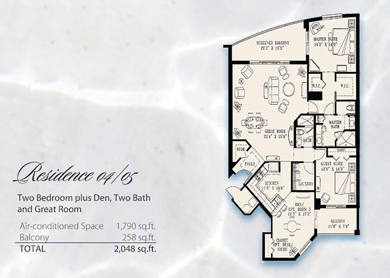 Condominium Floor Plans 04& 05