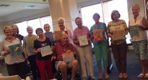 Senior Living community art class