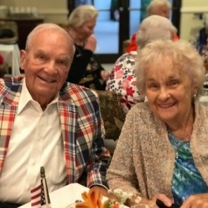 couple celebrate veterans day