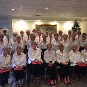 Senior living community Holiday chorus