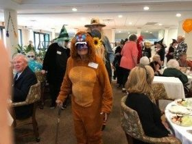senior residents dress up in costume