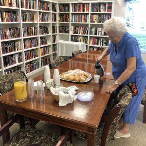 Senior living books and bagels