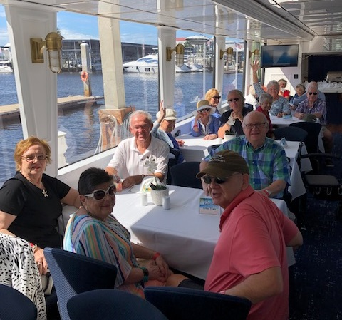 Senior living residents on cruise