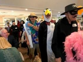senior living costume parade
