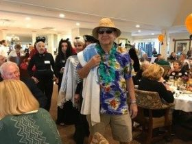 man dressed as tourist for Halloween