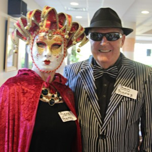Assisted living facility residents enjoy halloween party