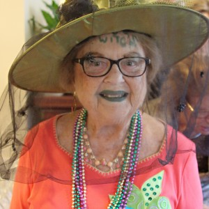 Woman wearing spooky lipstick