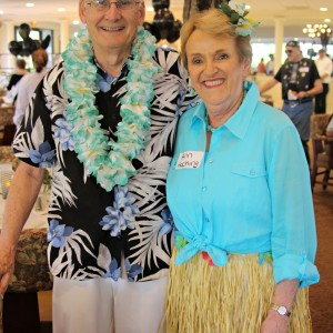 Married couple Hawaiian lual halloween party