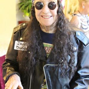 senior hippie biker
