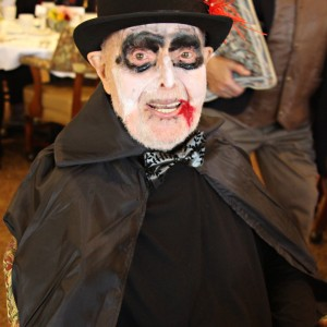 Senior in vampire costume