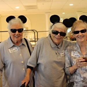 Senior women dress up as mice