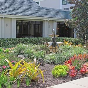Senior living community garden