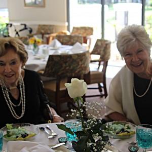 Senior residents enjoy ladies luncheon