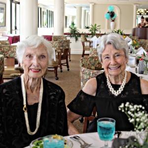Senior living community social luncheon