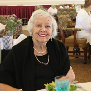 Assisted living resident enjoys luncheon