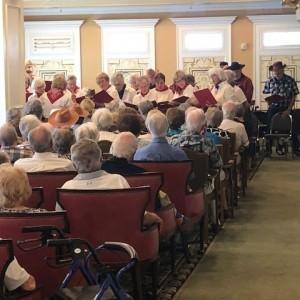 Senior Living Chorus performs