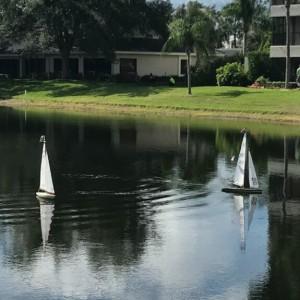 Remote control sail boats