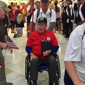 Veteran in wheel chair honored