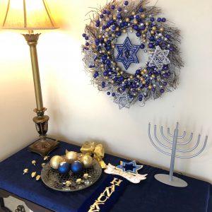 Hanukkah display at arbor trace