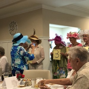 Senior living community kentucky derby party