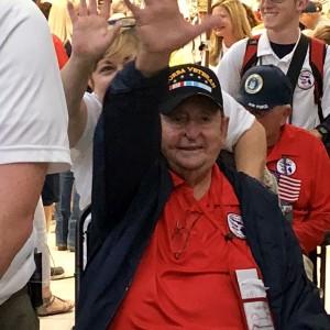 War Veteran waving