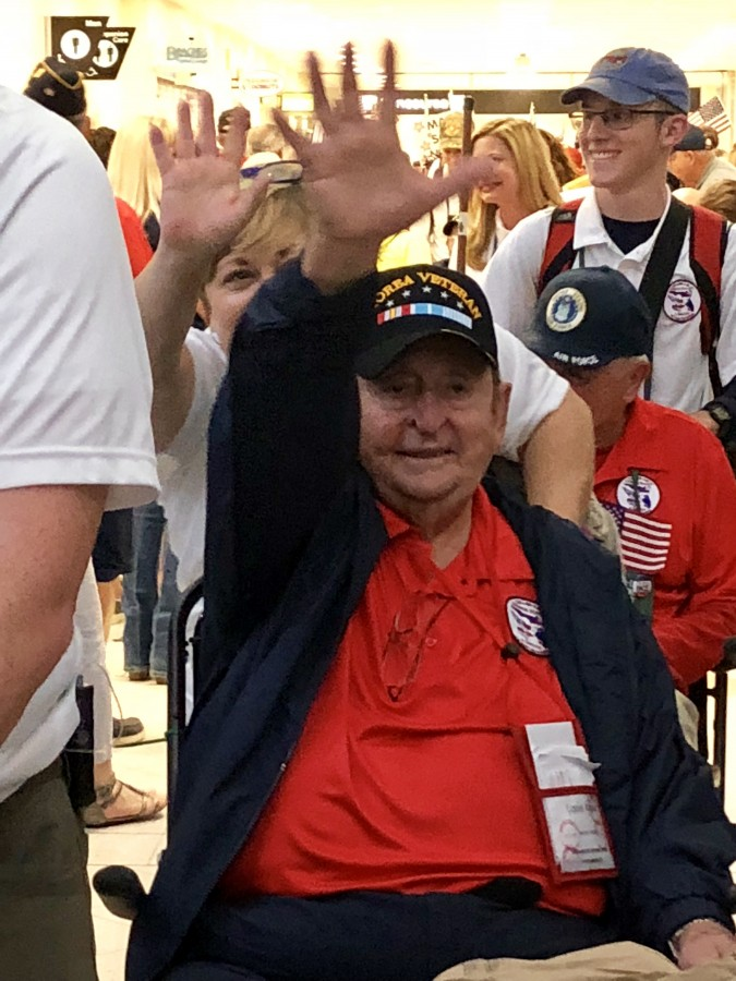 War Veteran waving
