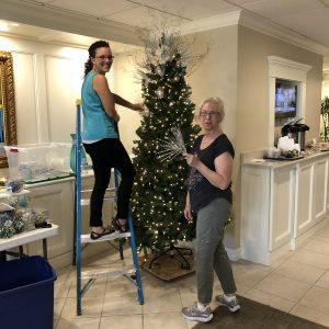 Arbor Trace lobby Christmas tree