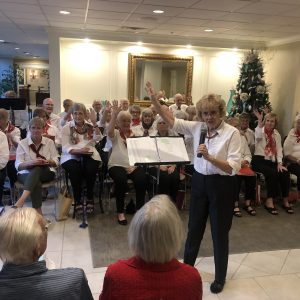 Senior living chorus sings