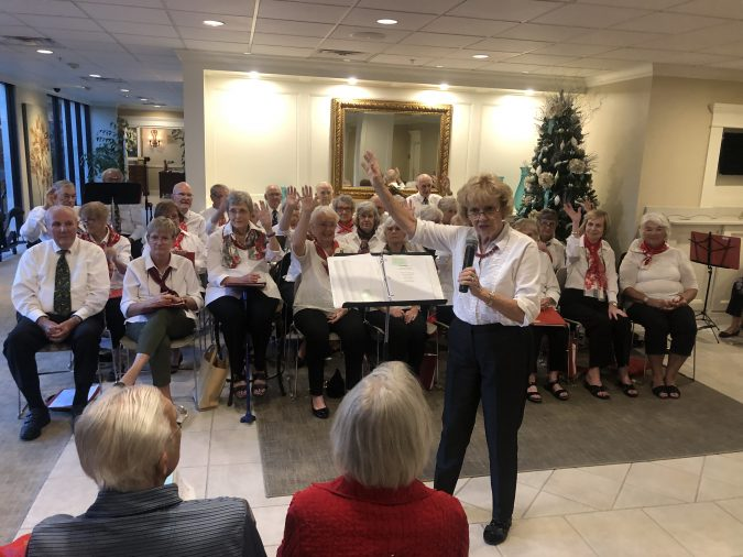 Senior living chorus sings