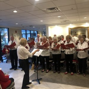senior chorus performs christmas
