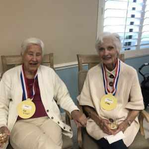 Senior Olympic contestants