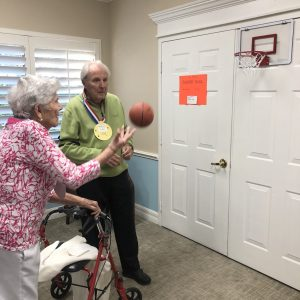 Senior Living community senior Olympics