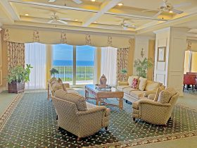 Club room with Gulf views at Arbor Trace