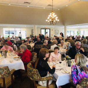friends and family at Arbor Trace buffet