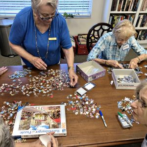Arbor Trace residents enjoy puzzles