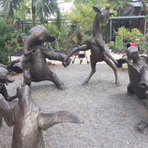 Animal statue at botanical gardens
