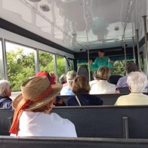 Senior residents on tour tram