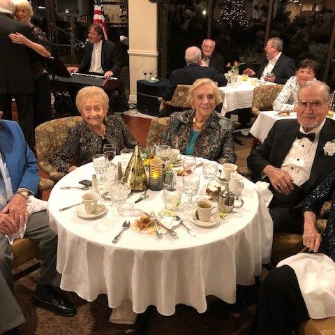 Arbor Trace residents at New Years Eve party