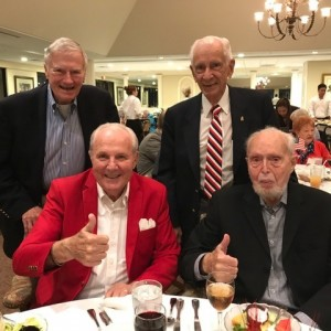 group of men at Veterans day party