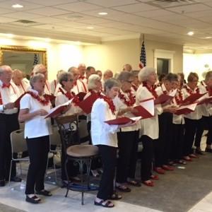 Senior living community chorus