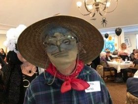 arbor trace resident in creepy mask