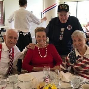 Group of seniors at memorial Day brunch