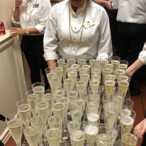 Arbor Trace serves champagne