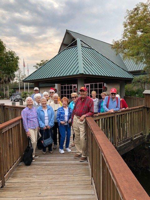 Group of seniors on boardwalk