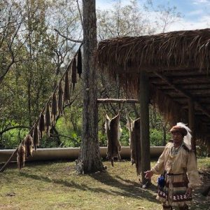 Seminole Indian hunting camp