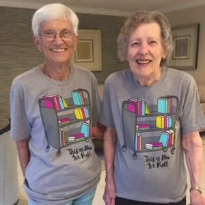 Two senior librarians
