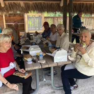 Arbor Trace residents having lunch
